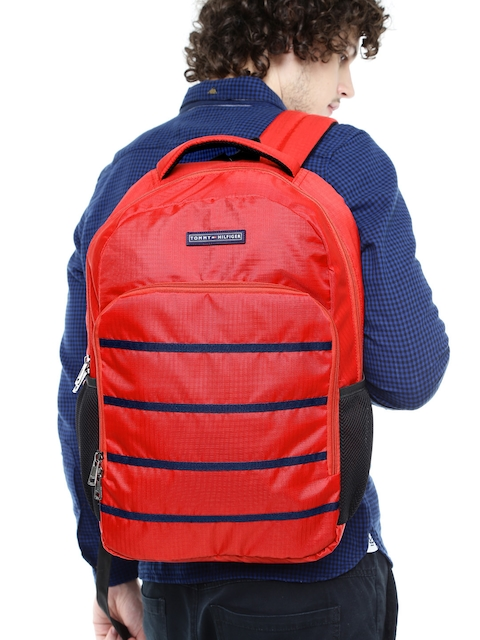 Tommy Hilfiger Unisex Red Biker Club-Colorado Backpack