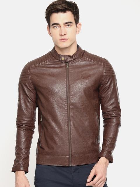 Being Human Men Brown Self Design Jacket