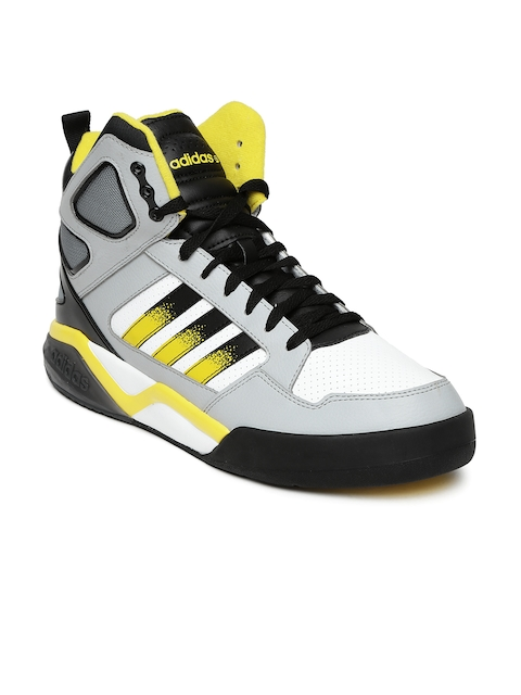 competitive price ec8fd da136 ... adidas neo men white grey bb95 mid casual shoes price in india