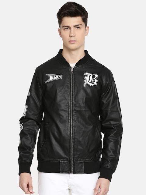 Being Human Men Black Printed Jacket