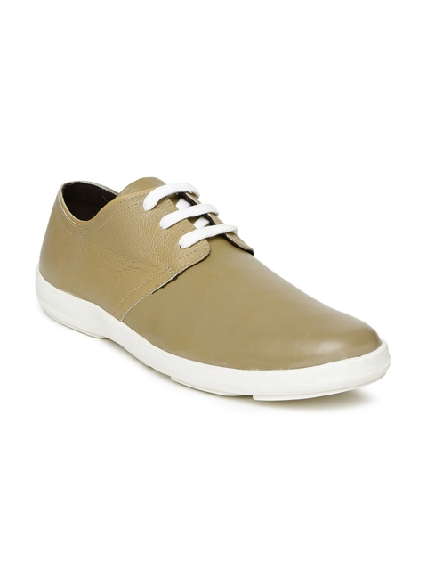 Roadster Men Brown Leather Casual Shoes