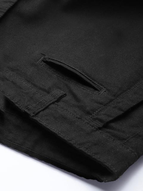 Roadster Men Black Regular Fit Solid Regular Trousers 6