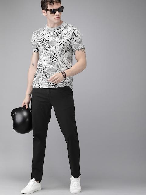 Roadster Men Black Regular Fit Solid Regular Trousers 4