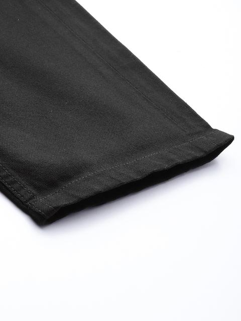 Roadster Men Black Regular Fit Solid Regular Trousers 7