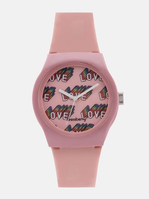 DressBerry Women Pink Analogue Watch 1