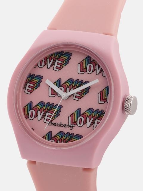 DressBerry Women Pink Analogue Watch 2