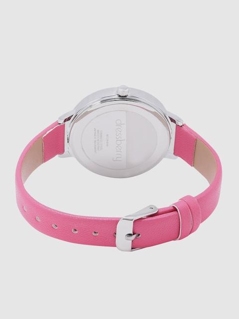 DressBerry Women White & Charcoal Analogue Watch MFB-PN-WTH-K0056 3