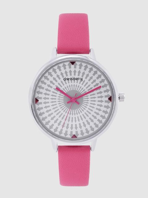DressBerry Women White & Charcoal Analogue Watch MFB-PN-WTH-K0056 1