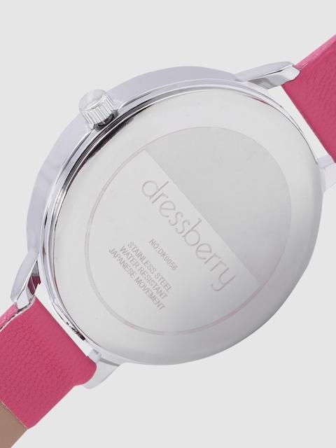 DressBerry Women White & Charcoal Analogue Watch MFB-PN-WTH-K0056 5