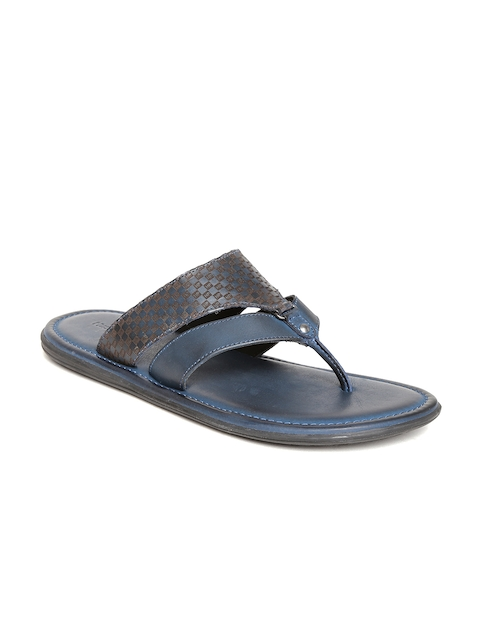 a4e06a858eb1 Hush Puppies by Bata Men Navy Leather Sandals Image