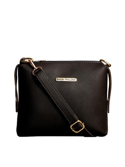 Bagsy Malone Black Solid Sling Bag