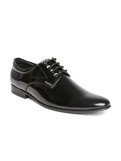 San Frissco Men Black Glossy Formal Shoes
