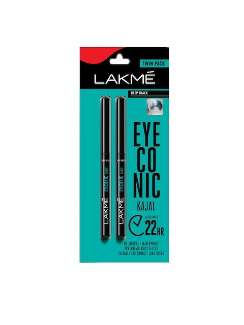 Lakme Set of 2 Eyeconic Kajal - Deep Black 0.70 g Each