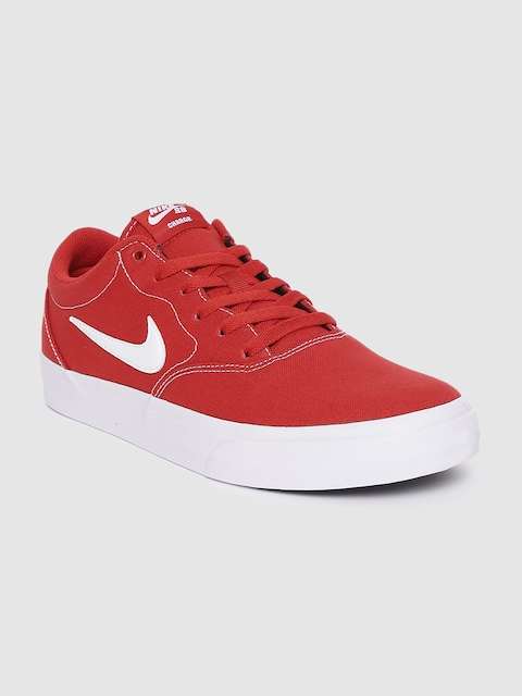 Nike Unisex Red SB Charge Canvas Skateboarding Shoes