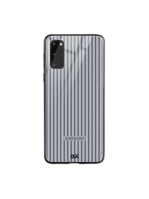 DailyObjects Grey Stripes Samsung Galaxy S20 Glass Case Cover
