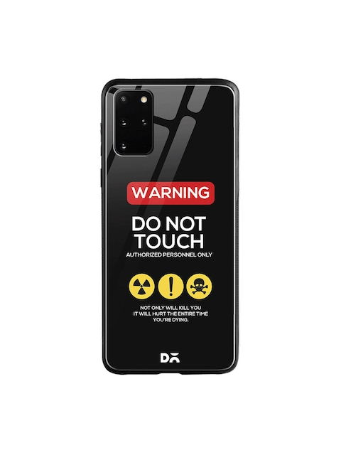 DailyObjects Black & White Do Not Touch Samsung Galaxy S20 Plus Glass Case Cover