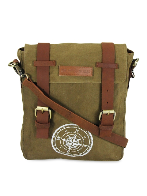 The House Of Tara Unisex Khaki Messenger Bag