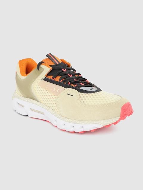 UNDER ARMOUR Unisex Cream-Coloured HOVR Summit Running Shoes