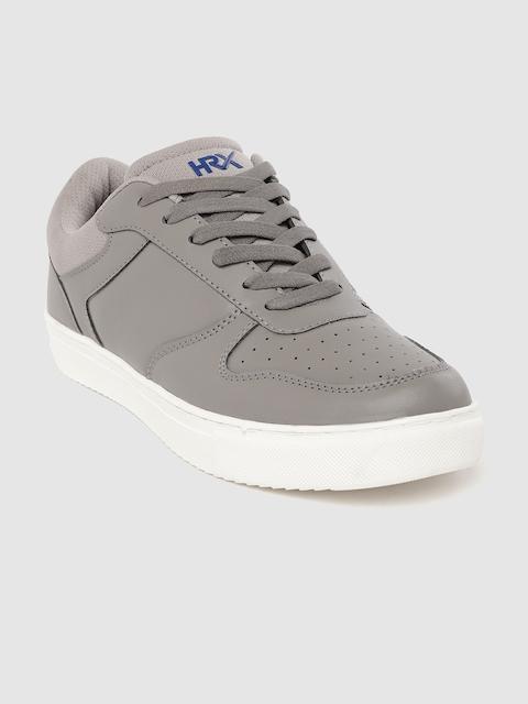 HRX by Hrithik Roshan Men Grey Perforated Skate Street Sneakers 1