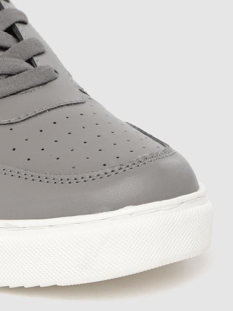 HRX by Hrithik Roshan Men Grey Perforated Skate Street Sneakers 5
