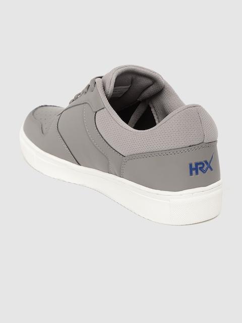 HRX by Hrithik Roshan Men Grey Perforated Skate Street Sneakers 2