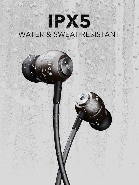 BOULT AUDIO Unisex Black Storm-X In-Ear Wired Earphones 5