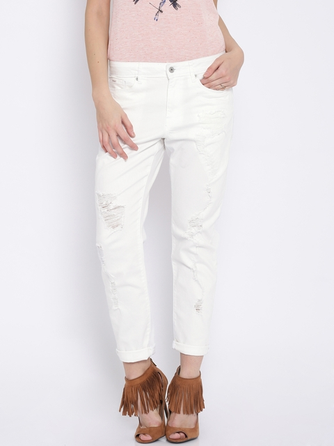 Buy ONLY White Jeans - Jeans for Women | Myntra