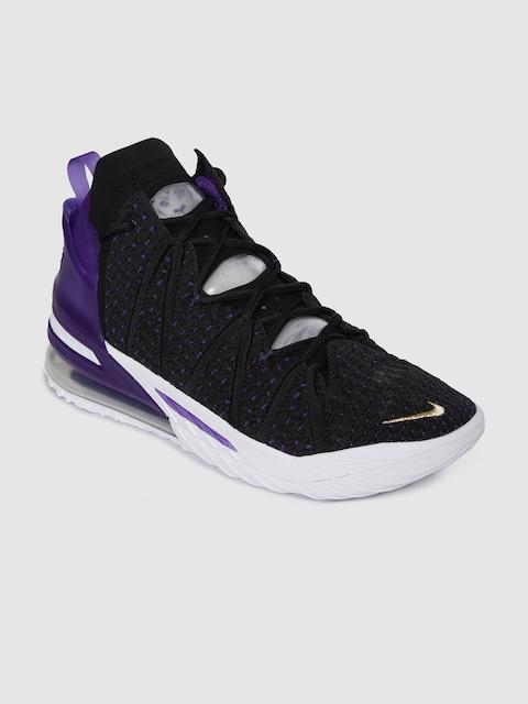 Nike Unisex Black LEBRON XVIII Mid-Top Basketball Shoes