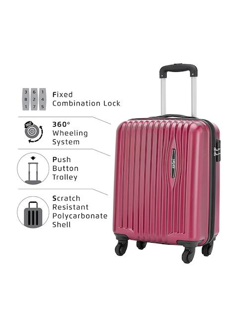 Safari Red 56 cm Premium Hardsided Trolley Suitcase 5