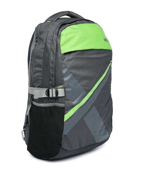 HRX by Hrithik Roshan Unisex Grey & Green Laptop Backpack