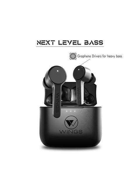 Wings Black Techno True Wireless TWS Earbuds 6