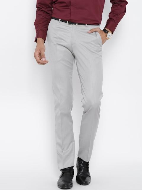 John Players Grey Slim Formal Trousers
