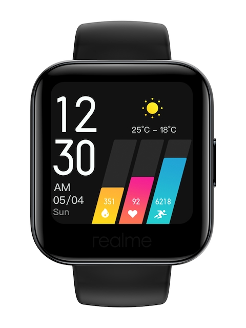 Realme Unisex Black SpO2 M Monitor and Large Color Touch Screen Watch RMA161