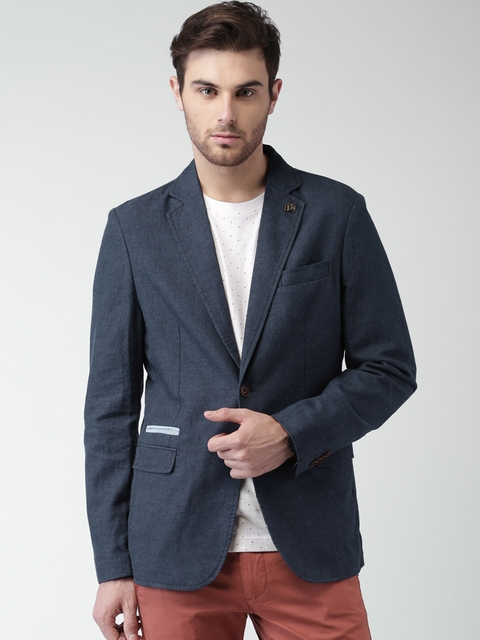 huge selection of ae46b 50a10 SELECTED Homme Identity Navy Linen Single-Breasted Smart Casual Blazer