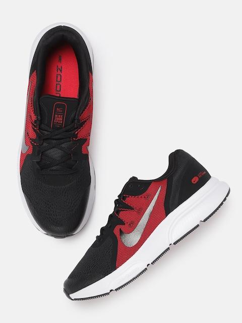 Nike Men Black & Red ZOOM SPAN 3 Running Shoes