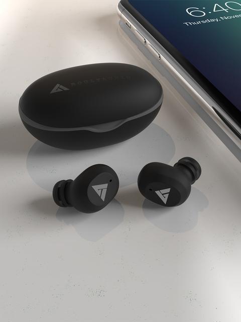 BOULT AUDIO Black True Wireless AirBass Combuds Bluetooth Headset 6