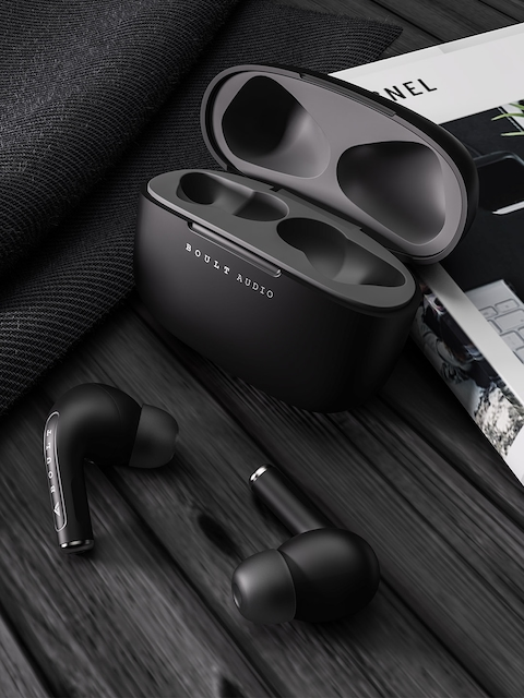 BOULT AUDIO Grey & Black True Wireless AirBass FreePods 5