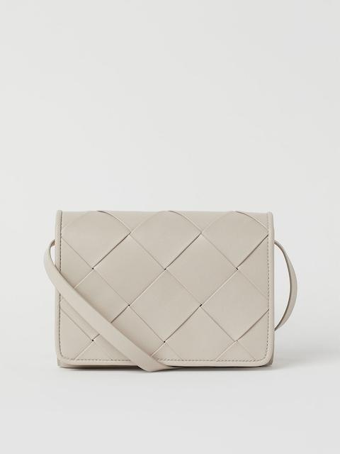 H&M Women Beige Braided shoulder bag