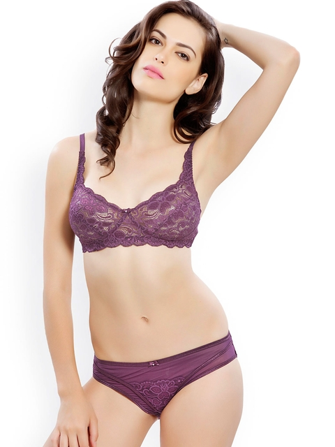 14f2b248668e2 Rs 479. Buy Now · Purple Lace Lingerie Set LLSET4030