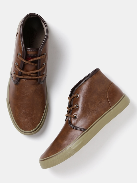 Roadster Men Brown Mid-Top Casual Shoes