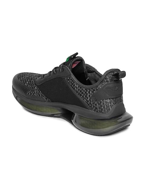 Red Tape Men Black Mesh Walking Shoes 3