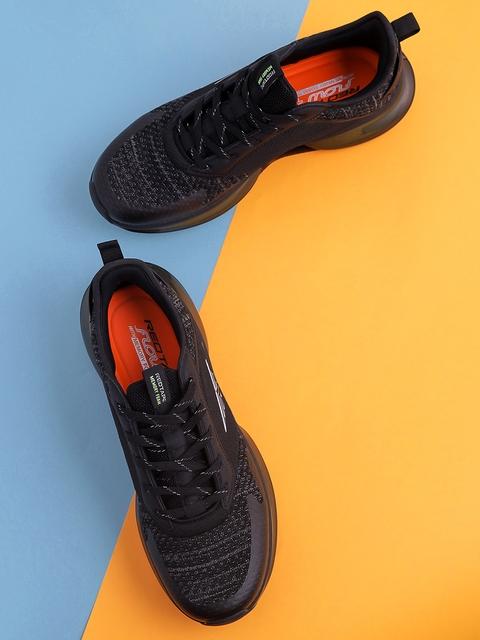 Red Tape Men Black Mesh Walking Shoes 1