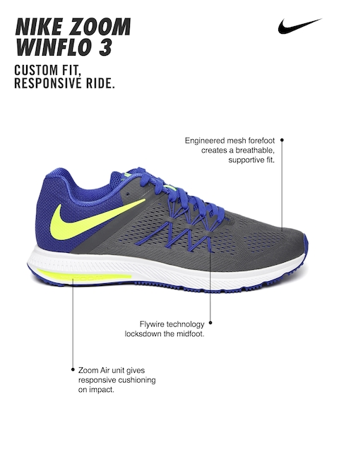 size 40 0de9e 9e7ee ... promo code for red blue buy nike men grey blue zoom winflo 3 running  shoes . ...