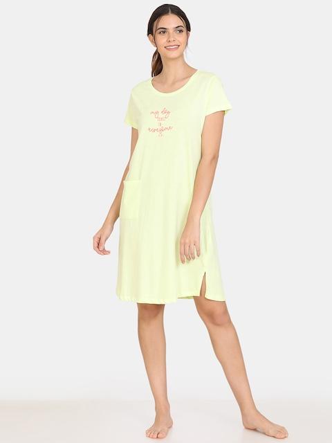 Zivame Women Yellow Nightdress