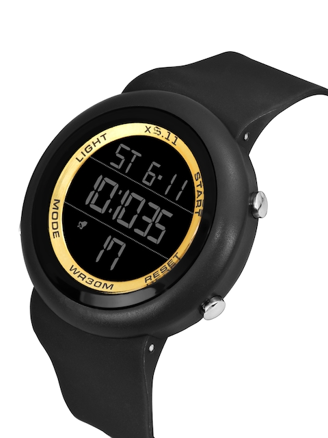 SWADESI STUFF Unisex Yellow Dial & Black Straps Digital Automatic Watch 2