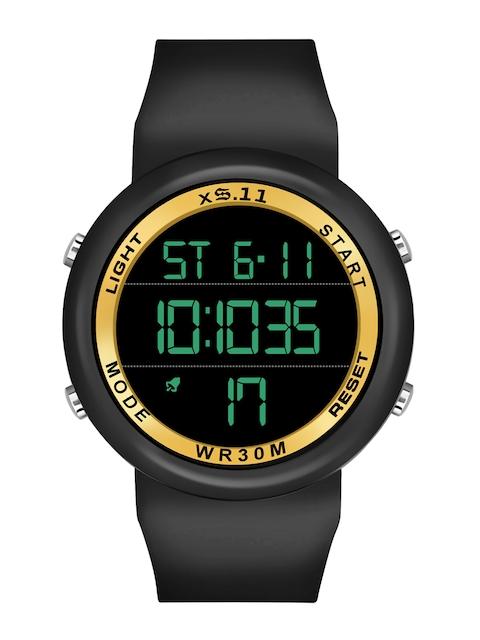 SWADESI STUFF Unisex Yellow Dial & Black Straps Digital Automatic Watch 1