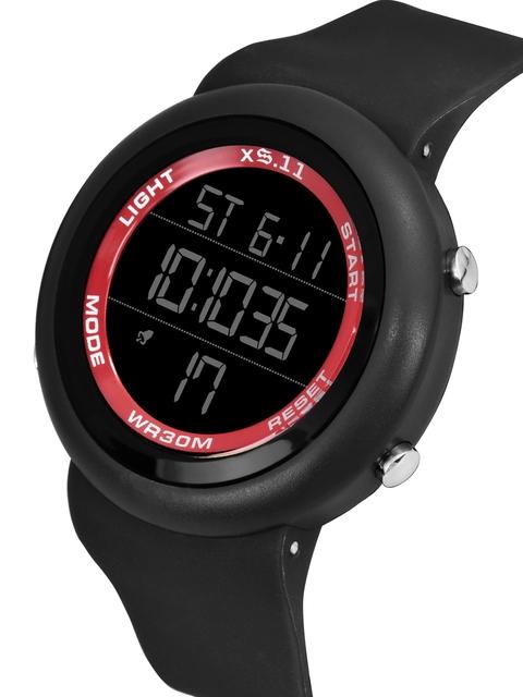 SWADESI STUFF Unisex Red Dial & Black Straps Digital Automatic Watch 2