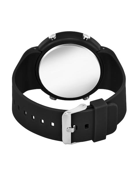 SWADESI STUFF Unisex Red Dial & Black Straps Digital Automatic Watch 4