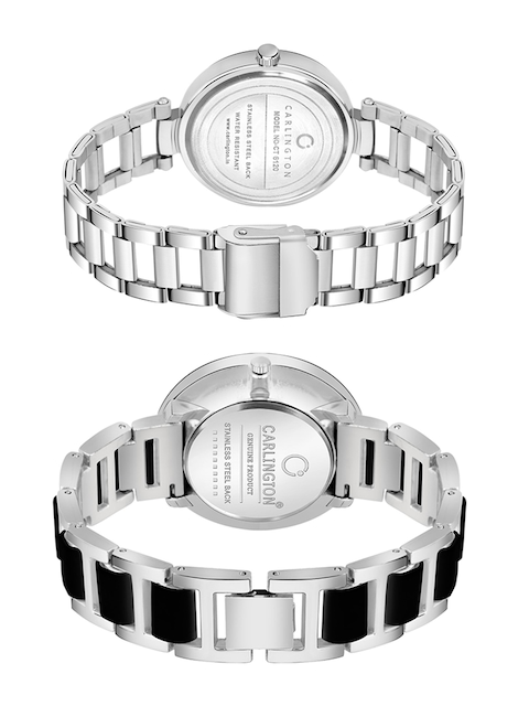 CARLINGTON Women Multicoloured Mother of Pearl Dial & Multicoloured Stainless Steel Bracelet Style Straps Watch 4