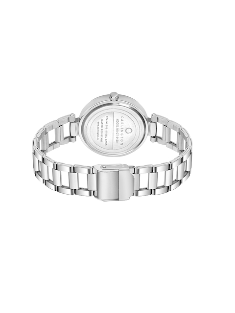 CARLINGTON Women Blue Dial & Silver Toned Stainless Steel Bracelet Style Straps Analogue Watch 4